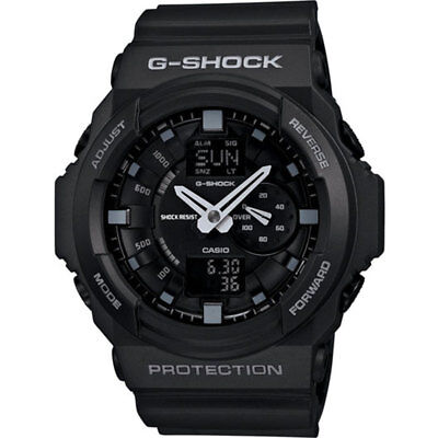 Casio Mens G-Shock Alarm Chronograph Wrist Watch Analog Black Plastic Band