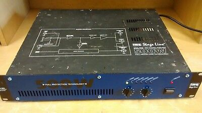 #10 IMG Stageline Power Amplifier Model STA-160 500W Perfect Working Order
