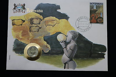 Botswana 1 Thebe 1976 Coin Cover A68 Cov112