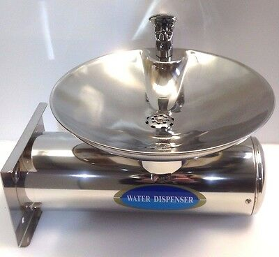 Stainless Steel wall mounted drinking water tap and sink