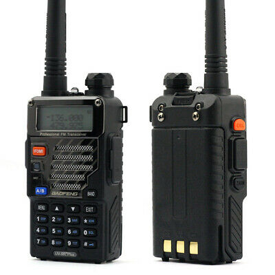 2x BaoFeng UV-5R Plus VHF/UHF 136-174/400-520MHz Two-way Walkie Talkie +Earpiece