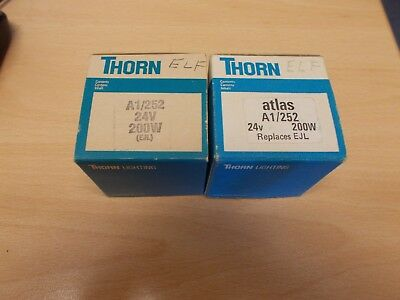 2 x Thorn Projector Lamps A1/252 24v 200w (EJL)