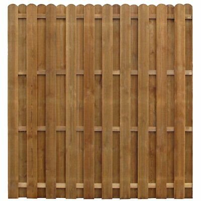 vidaXL Impregnated Hit & Miss Wooden Fence Panel Fencing Screen Edge Pinewood