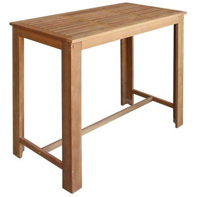 vidaXL Bar Table Restaurant Kitchen Furniture Dining Seat Solid Acacia Wood