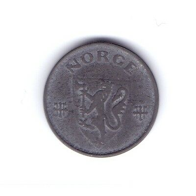 (rare?) 1941 NORWAY 10 ØRE NORWEGIAN NORSK COIN