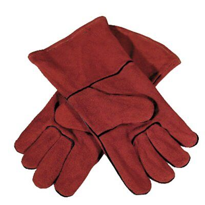 GYS Multifunctional Safety Work Gloves Gardening Builders Mechanic Leather Red