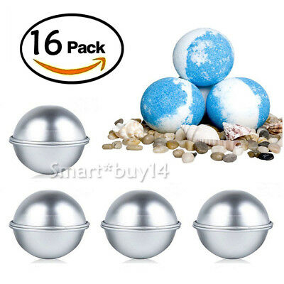 NEW 16pcs 3 Set Bath Bomb Mold Fizzy Crafting Cake Candle DIY Sphere Moulds AU