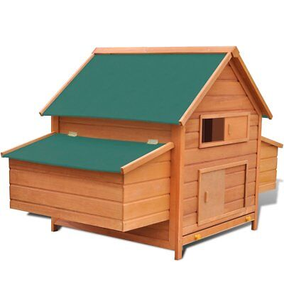 vidaXL Chicken Coop Hen House Poultry Shelter Cottage Nest Hutch Wood Brown