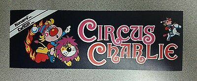 Circus Charlie marquee sticker. 3.25 x 10. (Buy  3 stickers, GET ONE FREE!)