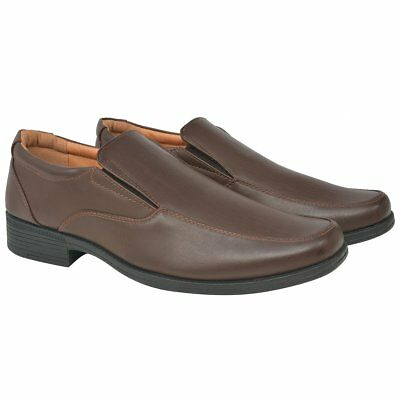 vidaXL Men's Loafers Basic Formal Casual Daily Footwear Brown Size 40 PU Leather