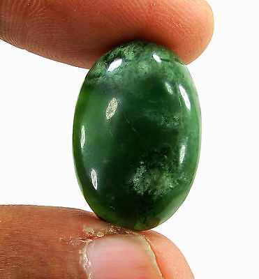 17.80 Ct Natural Green Serpentine Cabochon Loose Gemstone Stone - H5404