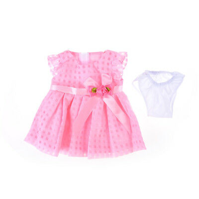 Handmade Pink Bowknot Summer Dress Doll Clothes Fits All 18 inch Toy Doll GiftJS