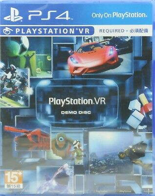PlayStation VR Demo Disc English PS4 NEW (VR AND Camera Required)