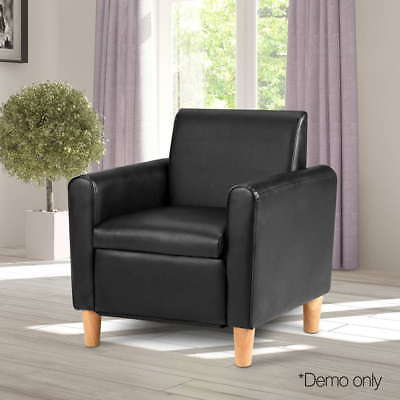 PU Leather Kid Single Sofa Children Couch Chair Storage For Reading Watching TV