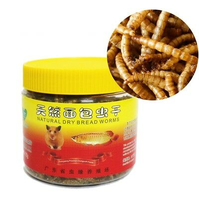 75g Dried Mealworms Bread Worm for Reptile Turtle Hamster Fish Food Pet Animal