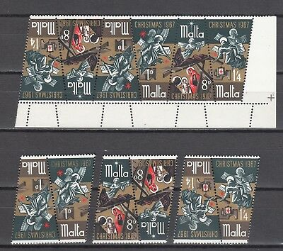 Malta 1967 Nativity Mi 364-366, Sc 375-377 MNH