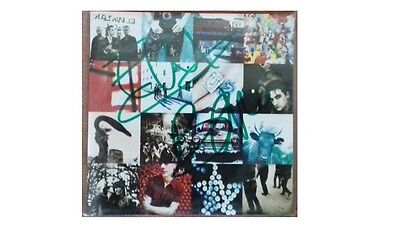 u2 achtung baby booklet cd signed form bono and the edge