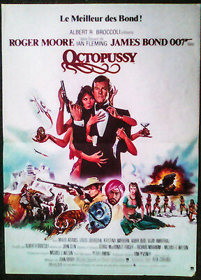 JAMES BOND (R.MOORE) OCTOPUSSY (1983 Original french movie poster)