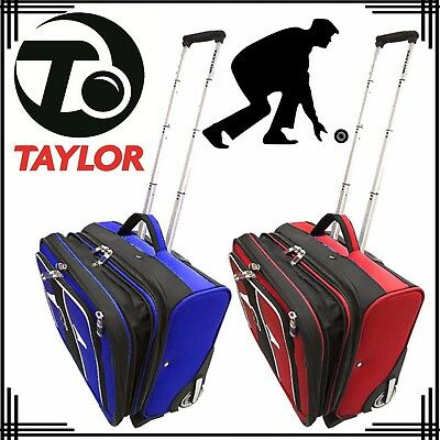 Taylor Lawn Bowls Large Trolley Case Luggage Suitcase Sports Travel Big Bag UK