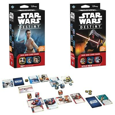 Star Wars Destiny - 1x KYLO REN and 1x REY Starter Sets - NEW and Sealed - FFG