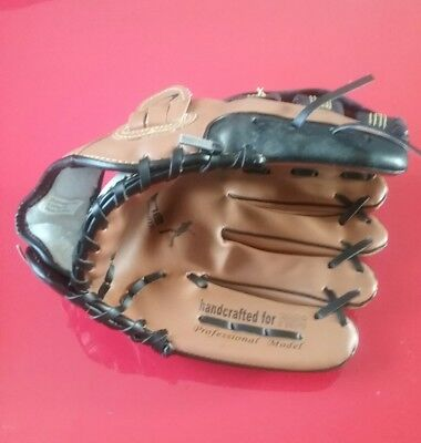 "Crane -12"" baseball mitt / glove, professional model.  black & Tan."