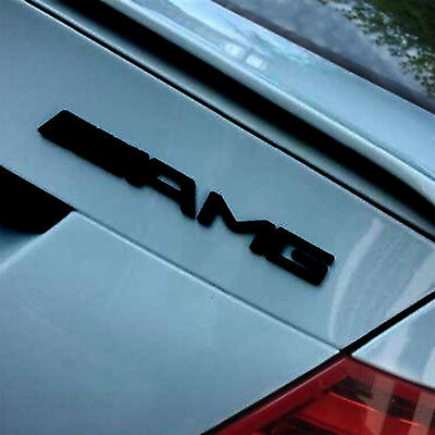 C63 & AMG Rear Boot Trunk Badge Emblem Decal for Mercedes Benz Gloss Black