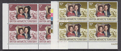 BAT 1972 Royal Silver Wedding Anniv set in blocks of four um-mint
