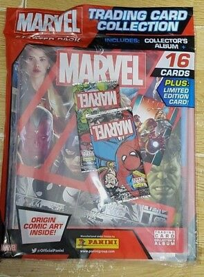 Panini Marvel Heroes TCG Starter Pack; Album + 16 Cards inc Limited Edition