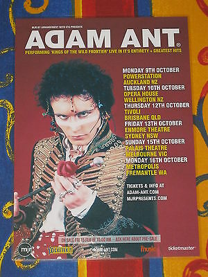 ADAM ANT - 2017 Australian Tour - Laminated Promotional Poster - OFFICIAL!