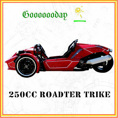 NEW 250cc ROADSTER TRIKE ZTR SPORT RACING QUAD BIKE ATV 3 WHEELER SLIDER