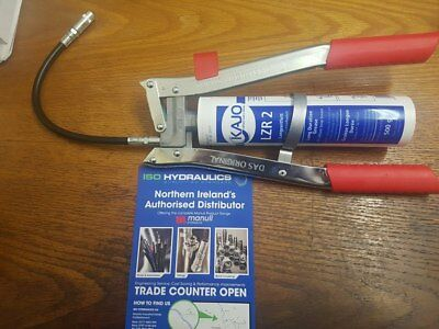 Fuchs Lubritech Two Handed Grease Gun + Free Kajo Long Duration Grease Tube