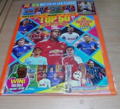Match of the Day magazine Special Top 50 Prem Superstars 2017 + 10 Attax Cards