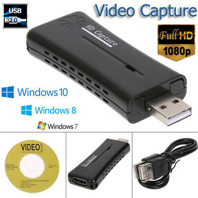 Mini USB 2.0 Port HDMI 1080P 60fps Monitor Video Capture Cards W/ Software CD