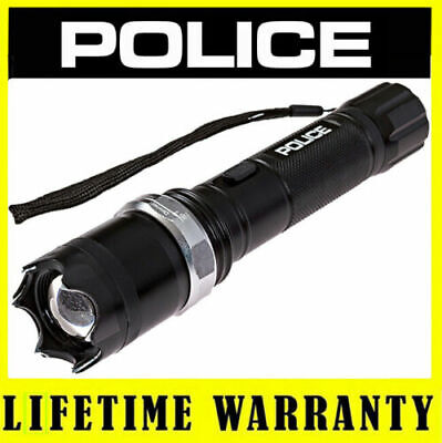 POLICE Stun Gun A2 180 BV Metal Rechargeable Zoom LED Flashlight