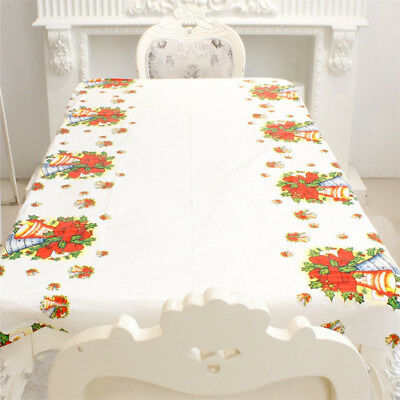 Disposable Tablecloth Table Cover Cloth Christmas Holiday Home Table Decor