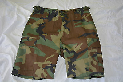 New woodland camo combat style short size small (#bte75)