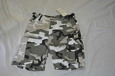 New black and white camo combat style short size large (#bte76)