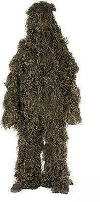 Woodland paintball airsoft hunting ghillie suit Med /large 3 pces (#bte51)