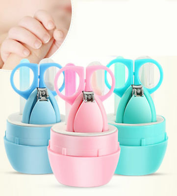 Newborn Baby Nail Care Suits Baby Nail Scissors Clippers Tweezers Nail File Set