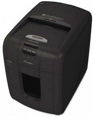 Swingline® Stack-and-Shred? 100X Hands Free Cross Cut Shredder, Black