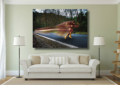 The Flash Super Hero Large Poster Wall Art Print - A0 A1 A2 A3 A4
