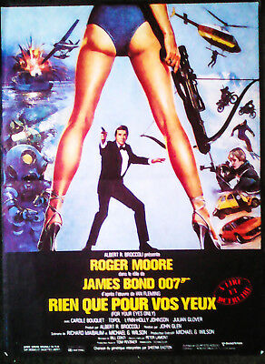 JAMES BOND (R.MOORE) FOR YOUR EYES ONLY (1981 Original french movie poster)