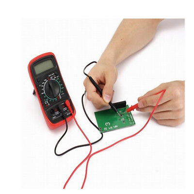 Universal Digital Multimeter Multi Meter Test Lead Probe RED +BLACK Wire Cable