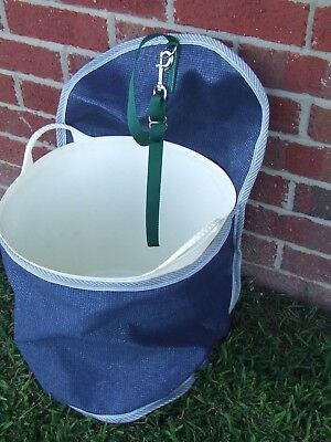 Ecotak Shademesh Posrtable BUcket Holder - Navy/Green Ecotak