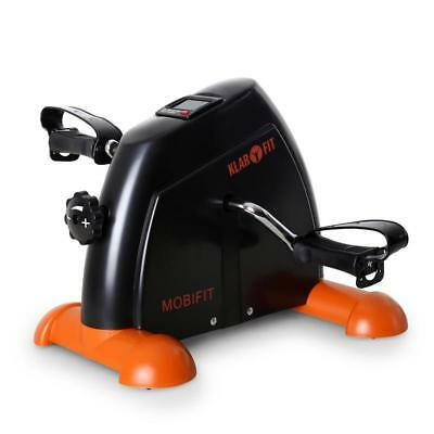 New Klarfit Exercise Bike Cardio Fitness Black/orange Pedal Bicycle Arm Leg