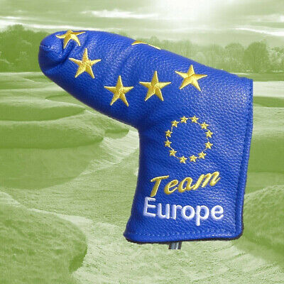 Team Europe Limited Edition Blue Blade Golf Putter Cover ideal for Ping Anser