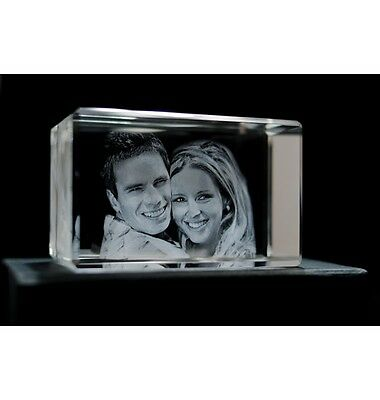 3D Photo Crystal   PERSONALISED 3D LASER ENGRAVED CRYSTAL   1 Day Dispatch !!