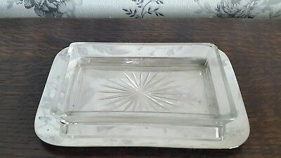 A Vintage Silver Plated Butter Dish with Glass Insert