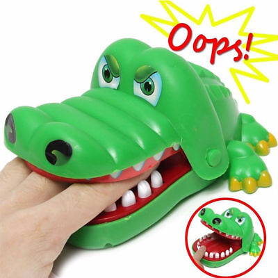 Cute Crocodile BIG Mouth Dentist Bite Finger Game Prank Funny Toy Kids Gift Toys