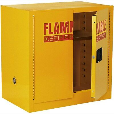 Global? Compact Flammable Storage Cabinet 22 Gallon Capacity